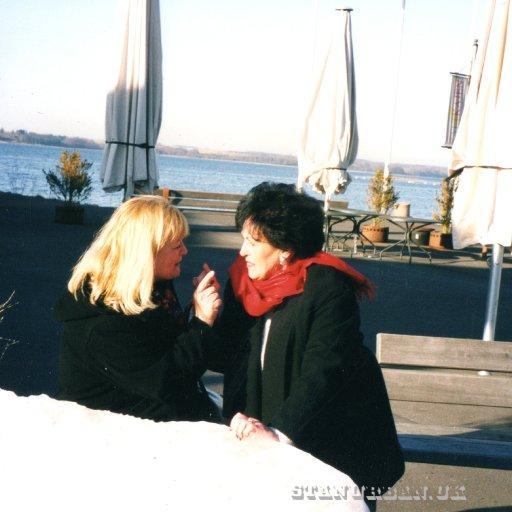 Wanda jackson with my lovely wife, Evi