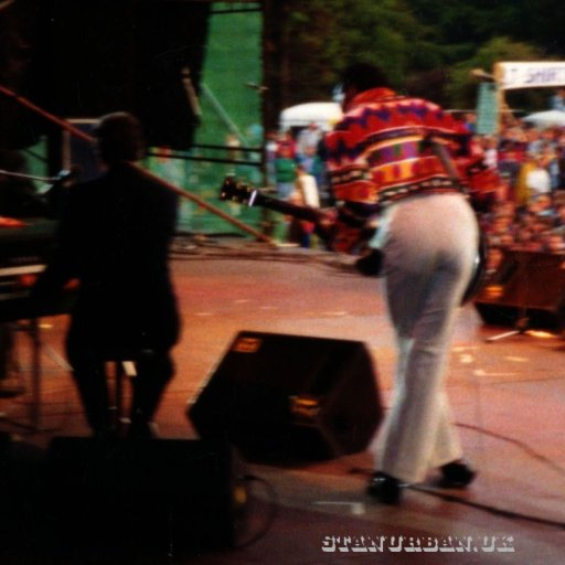 On stage with Chuck Berry