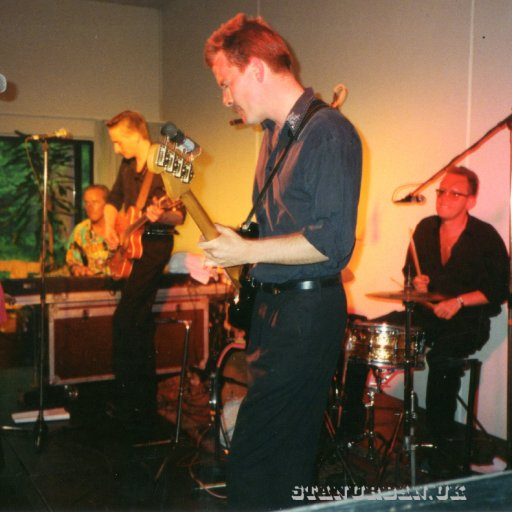 On stage with The Alligators and Wanda Jackson,1994