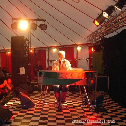 Blues tent.