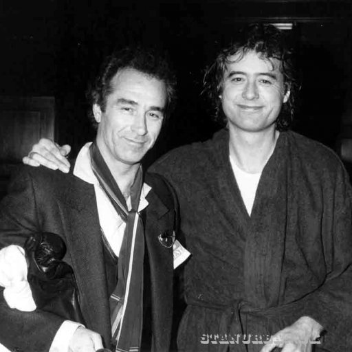 Backstage with Jimmy Page.